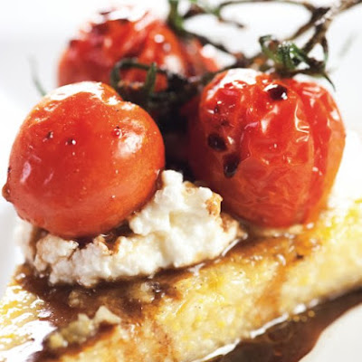 Sauteed Polenta with Roasted Tomatoes