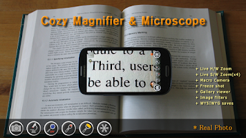 Screenshot of Cozy Magnifier & Microscope +