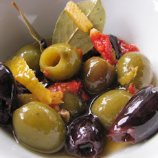 Auberge Spiced Olives With Garlic, Orange and Sun-Dried Tomatoes