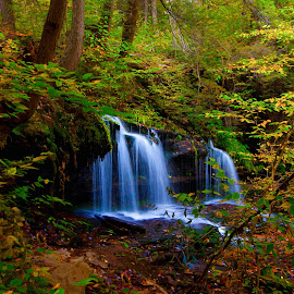 Waterfalls by GPictoria -Gopu's Photography - Landscapes Waterscapes ( waterfalls, nature, trail, forest, beauty )
