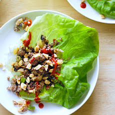 Bison and Water Chestnut Lettuce Cups