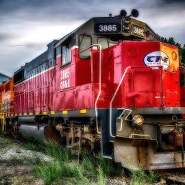 I think I can by Calvin Morgan - Transportation Trains ( hdr, railway, train, transportation, nikon d7000 )