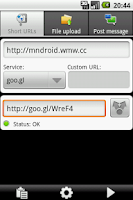 Screenshot of URLy - the URL sharer