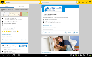 Screenshot of Yellow Pages® Australia