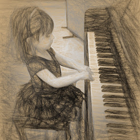 Introducing EMERSON KATE by Allen Crenshaw - Drawing All Drawing ( child, piano, digital art, art, electronic art, photography, drawing )