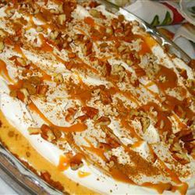 Microwave Pumpkin and Caramel Cheesecake