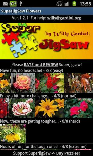 SuperJigSaw Flowers