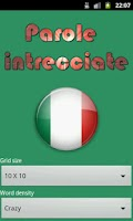 Screenshot of Parole Intrecciate italiano