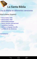 Screenshot of Biblia en Español Multi Opción