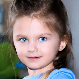 Baby Blue Eyes by Luanne Bullard Everden - Babies & Children Child Portraits ( girls, blue, grandchildren, children, toddlers )