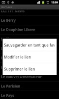 Screenshot of Journaux Français