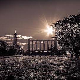 Calton Hill, Edinburgh Scotland by Jen Pezzotti - City,  Street & Park  City Parks