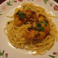 Light Chicken Piccata With Linguine