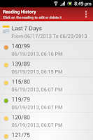 Screenshot of BP Log Tracker