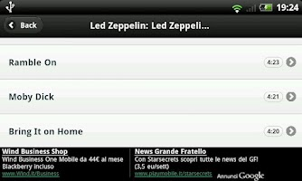 Screenshot of VideoLinks: Led Zeppelin