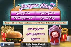 Screenshot of Burger Shop