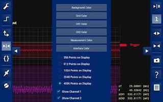 Screenshot of OsciPrime Oscilloscope