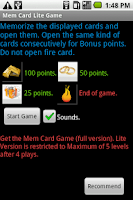 Screenshot of Mem Card  Free Game  - Skill