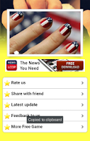 Screenshot of Nail Art Girl Salon
