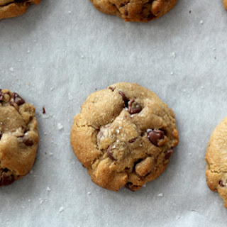 Nutella Stuffed Brown Butter & Sea Salt Chocolate Chip Cookies