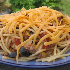 Tex-Mex Spaghetti (Crock Pot Served)