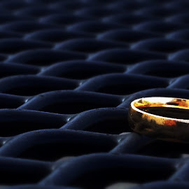 ring in the dark by Andrew Butcher - Wedding Details ( ring, wedding, romantic, black )