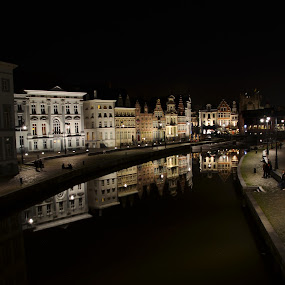 gent by night graslei by Shana Buckens - Buildings & Architecture Public & Historical (  )