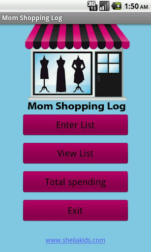 Mom Shopping Log