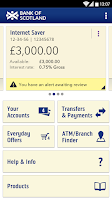 Screenshot of Bank of Scotland Mobile Bank