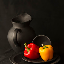 Still life with Bell Peppers by Rakesh Syal - Artistic Objects Still Life
