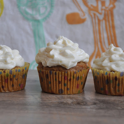 Spelt and Carrot-Ginger Cupcakes