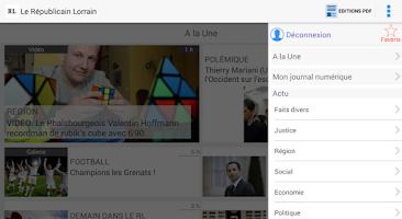 Screenshot of Le Républicain Lorrain
