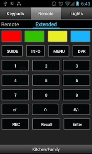 Pocket Keypad for Control4® - screenshot