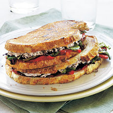 Goat Cheese and Roasted Pepper Panini