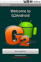 Screenshot of G2Android 1.6.3