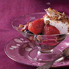 Champagne-Soaked Berries with Whipped Cream