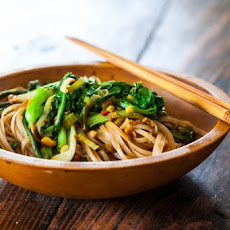 Satay Noodles and Greens