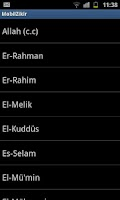 Screenshot of Names of Allah
