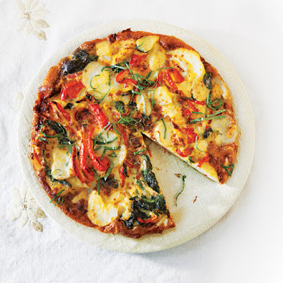 Potato, Spinach, and Red Pepper Frittata
