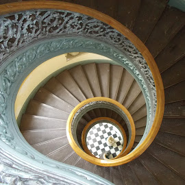 up & down or round & round by Walter Richardson - Buildings & Architecture Architectural Detail ( stairs, architecture )