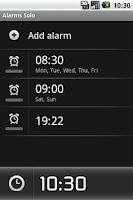 Screenshot of AlarmSolo