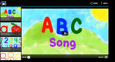 Screenshot of Children song collection