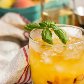Bourbon Peach Basil Smash