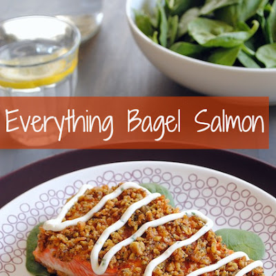 Everything Bagel-Crusted Salmon with Creamy Chive Sauce