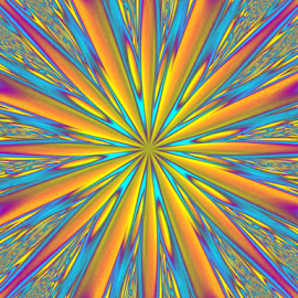Stsr Burst by Tina Dare - Illustration Abstract & Patterns ( abstract, patterns, colorful, manipulated, designs, distorted, burst, curves, shapes )