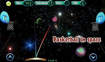 Screenshot of Cosmic Basketball