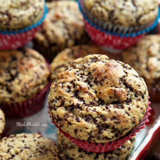 Skinny Banana Muffins with Chocolate Sprinkles