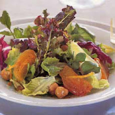 Salad of Fall Greens with Persimmons and Hazelnuts
