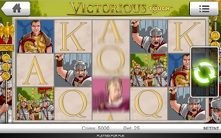 Screenshot of Victorious Casino Slot Machine