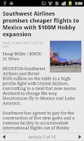 Screenshot of Houston News and Weather